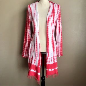 [Soft Surroundings] Tie Dye Pink Cardigan
